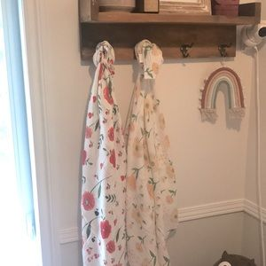 Duo of floral cotton muslins.